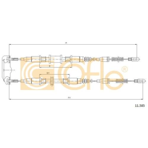 Cablu frana mana Daewoo Cielo (Kletn); Opel Kadett E Cofle 11585, parte montare : spate