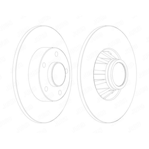 Disc frana Jurid 562211JC, parte montare : punte spate