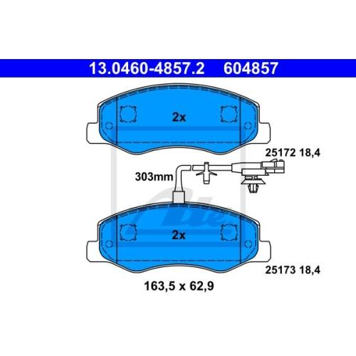 Set placute frana Ate 13046048572, parte montare : punte spate