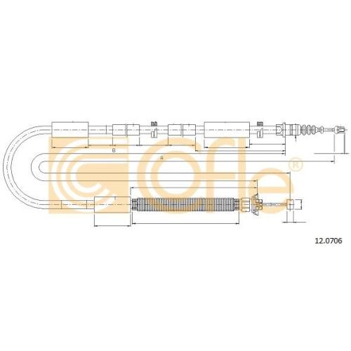 Cablu frana mana Fiat Bravo 2 (198), Stilo (192) Cofle 120706, parte montare : dreapta, spate