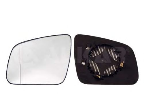 Geam oglinda, sticla oglinda Mercedes Clasa C (W204), Alkar 6471569, parte montare : Stanga