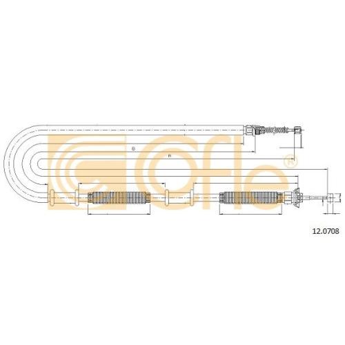 Cablu frana mana Fiat Doblo (223) Cofle 120708, parte montare : dreapta, spate