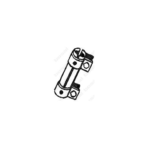 Colier teava esapament, conector toba Bosal 265955