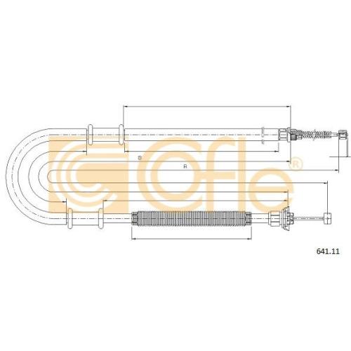 Cablu frana mana Fiat Doblo (223) Cofle 64111, parte montare : stanga, spate