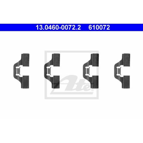Set accesorii placute frana Ate 13046000722, parte montare : Punte spate