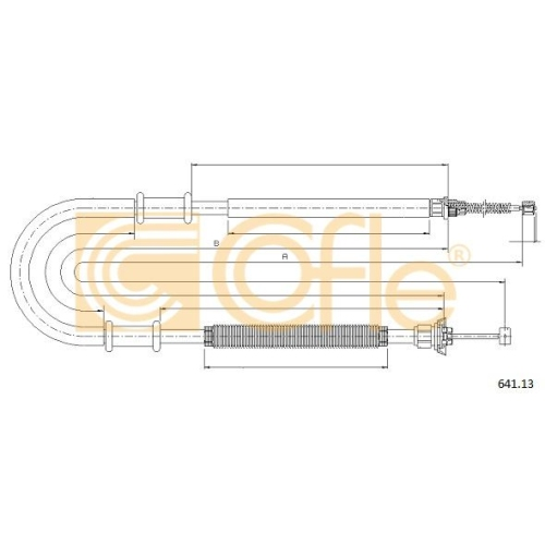 Cablu frana mana Fiat Doblo (223) Cofle 64113, parte montare : stanga, spate