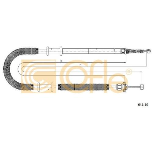 Cablu frana mana Fiat Doblo Cargo (223); Iveco Daily 2 Cofle 64110, parte montare : dreapta, spate