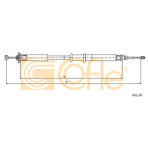 Cablu frana mana Fiat Grande Punto (199), Punto (188) Cofle 63120, parte montare : stanga, dreapta, spate