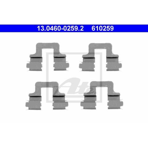 Set accesorii placute frana Ate 13046002592, parte montare : Punte spate