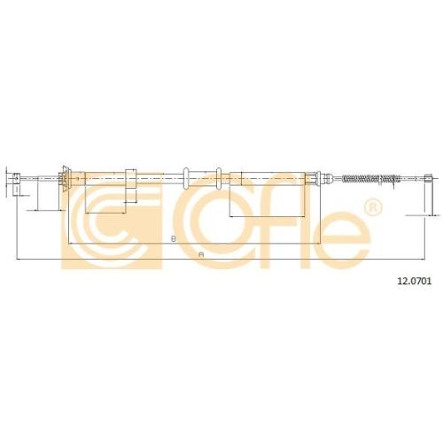 Cablu frana mana Fiat Panda (169) Cofle 120701, parte montare : dreapta, spate