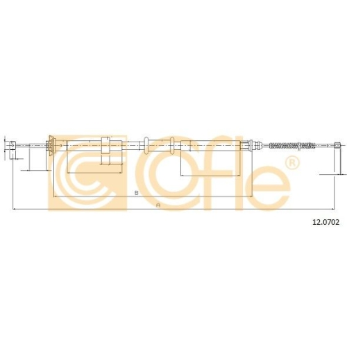 Cablu frana mana Fiat Panda (169) Cofle 120702, parte montare : stanga, spate