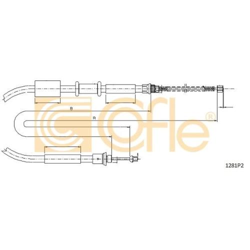 Cablu frana mana Fiat Punto (176) Cofle 1281P2, parte montare : stanga, spate