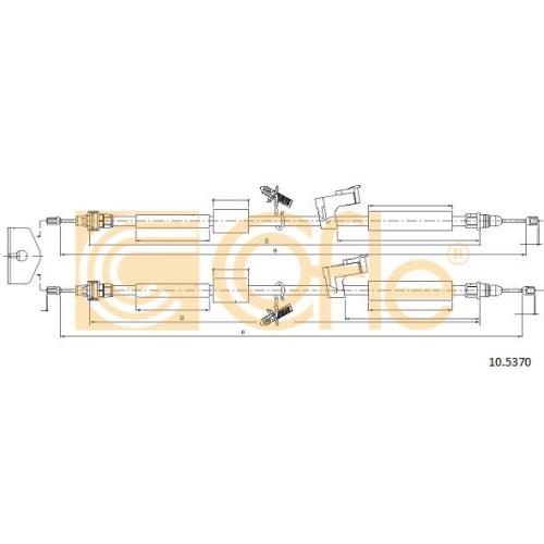 Cablu frana mana Ford C-Max (Dm2), Focus C-Max, Focus 2 (Da) Cofle 105370, parte montare : spate