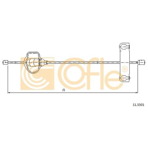 Cablu frana mana Ford Cougar (Ec), Mondeo 1 (Gbp), Mondeo 2 (Bap) Cofle 115501, parte montare : fata