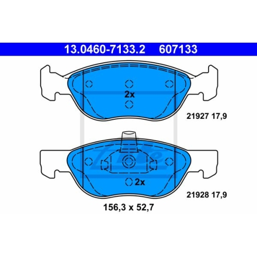 Set placute frana Ate 13046071332, parte montare : punte fata