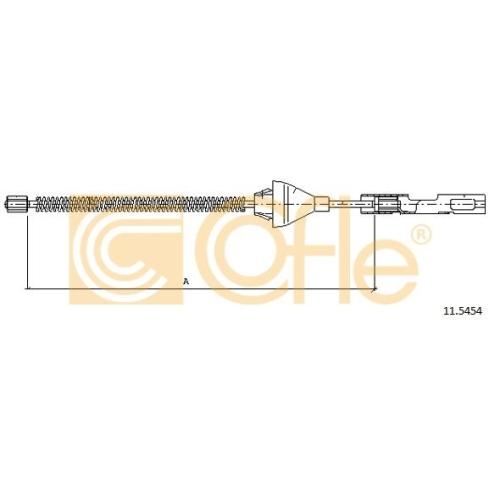 Cablu frana mana Ford Fiesta 4 (Ja, Jb), Fiesta 5 (Jh, Jd), Focus 1 (Daw, Dbw), Focus 3 Limuzina, Fusion (Ju); Mazda 2 (Dy) Cofle 115454, parte montare : spate