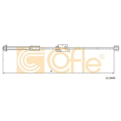 Cablu frana mana Ford Fiesta 4 (Ja, Jb), Fiesta 5 (Jh, Jd), Fusion (Ju); Mazda 2 (Dy) Cofle 115449, parte montare : fata