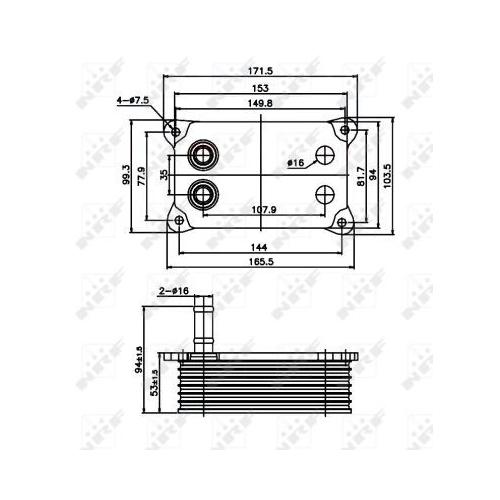 Radiator ulei motor, Termoflot Nrf 31071