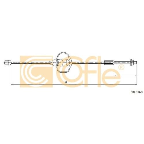 Cablu frana mana Ford Focus 1 (Daw, Dbw) Cofle 105360, parte montare : fata