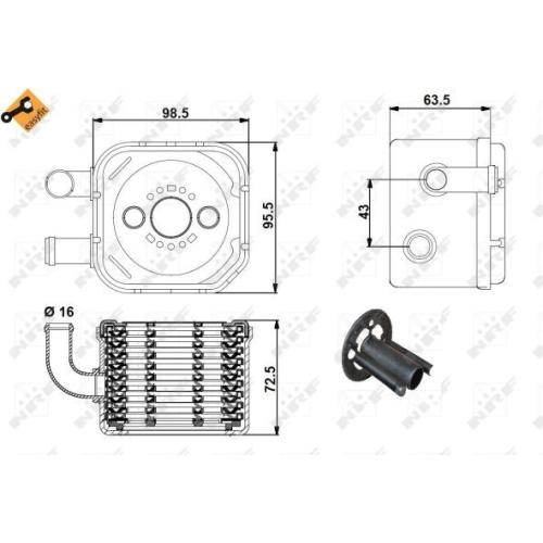 Radiator ulei motor, Termoflot Nrf 31170