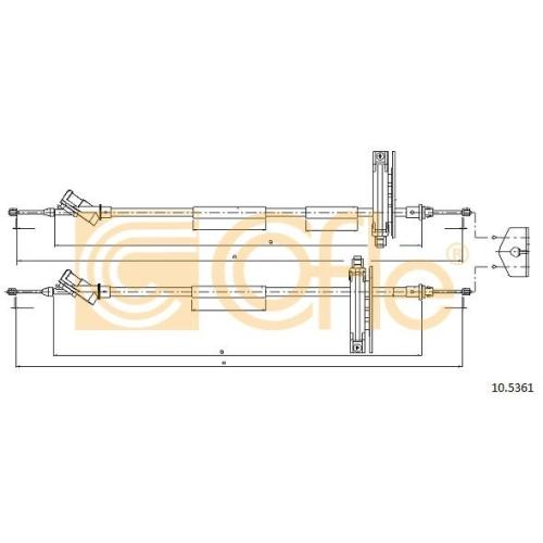 Cablu frana mana Ford Focus 1 (Daw, Dbw), Focus C-Max Cofle 105361, parte montare : spate