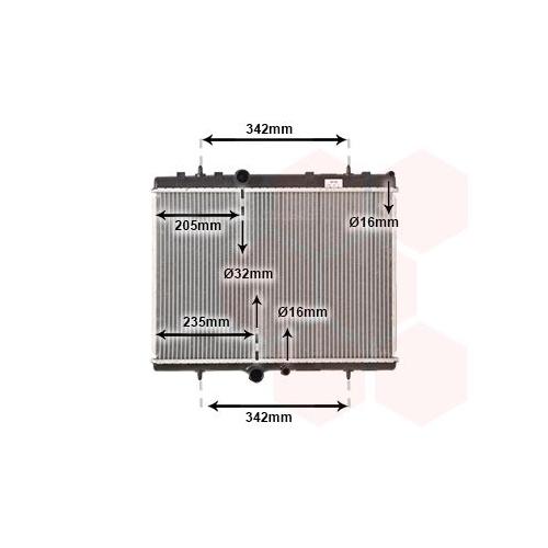 Radiator racire motor Van Wezel 40002241
