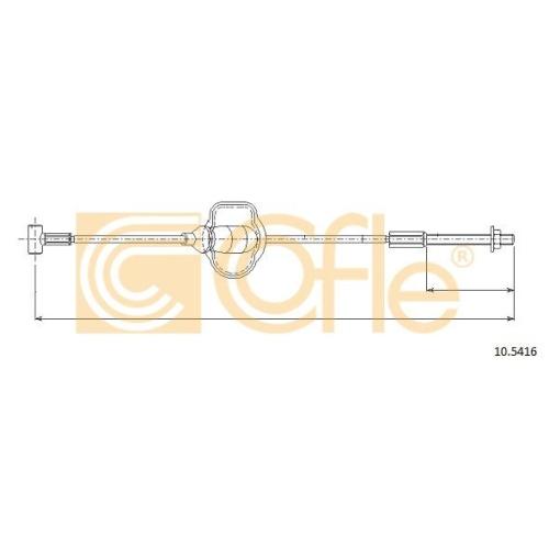 Cablu frana mana Ford Focus 1 (Daw, Dbw), Tourneo Connect, Transit Connect (P65, P70, P80) Cofle 105416, parte montare : fata