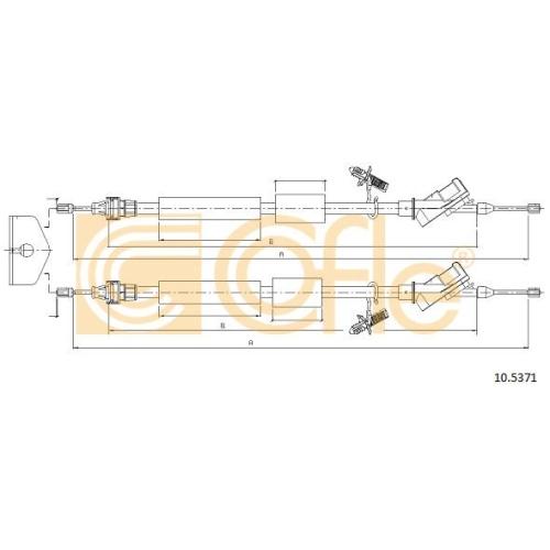 Cablu frana mana Ford Focus 2 (Da) Cofle 105371, parte montare : spate