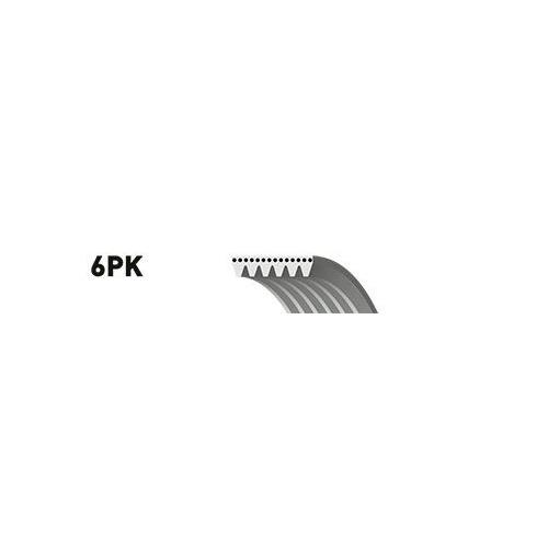 Curea transmisie cu caneluri Gates 6PK1353