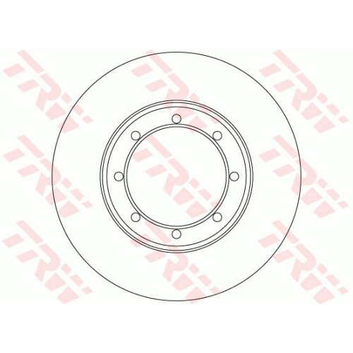 Disc frana Trw DF6372, parte montare : punte spate