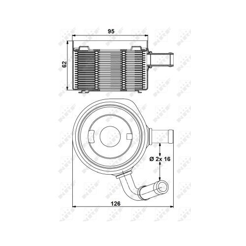 Radiator ulei motor, Termoflot Nrf 31178