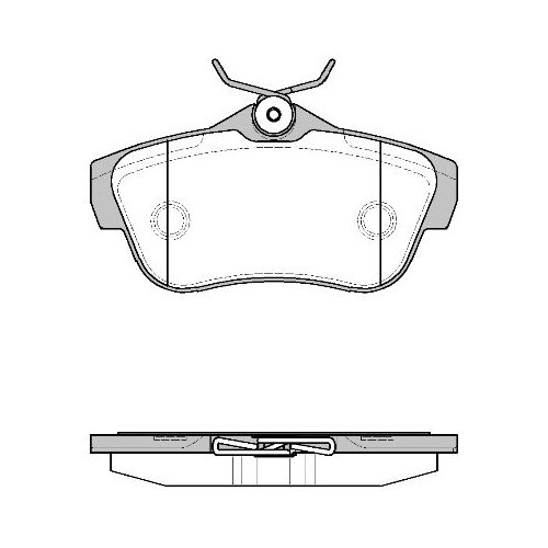 Set placute frana Remsa 129900, parte montare : Punte spate