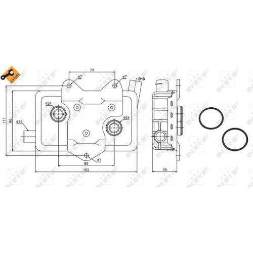 Radiator ulei motor, Termoflot Nrf 31180