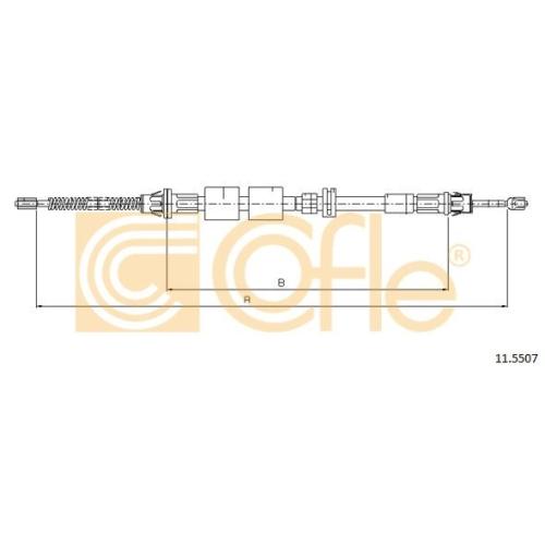 Cablu frana mana Ford Mondeo 1 (Gbp), Mondeo 2 (Bap); Jaguar Xj, Xk Cofle 115507, parte montare : stanga, dreapta, spate