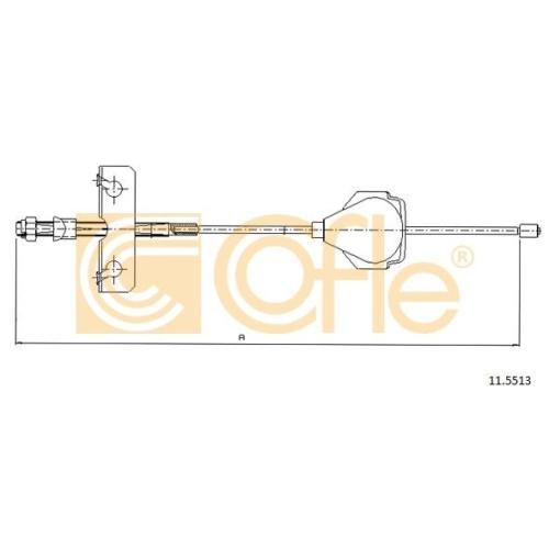 Cablu frana mana Ford Mondeo 3 (B5y), Mondeo 4 (Ba7) Cofle 115513, parte montare : fata
