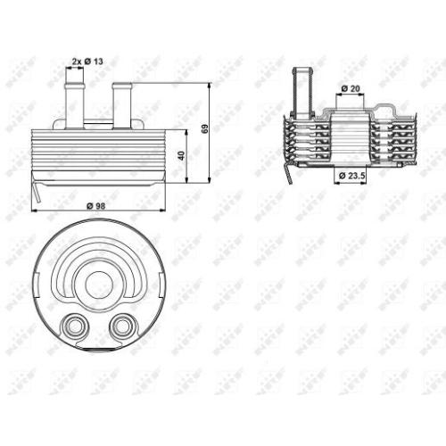 Radiator ulei motor, Termoflot Nrf 31184