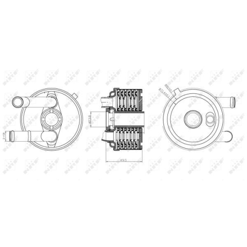 Radiator ulei motor, Termoflot Nrf 31187