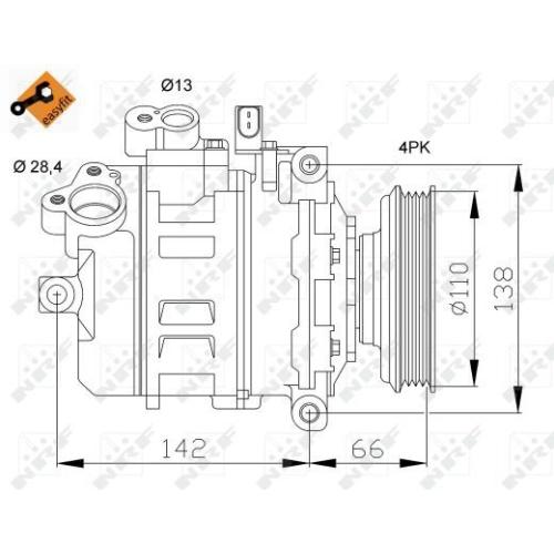 Compresor climatizare Audi A4 (8e2, B6), A6 (4b2, C5) Nrf 32106