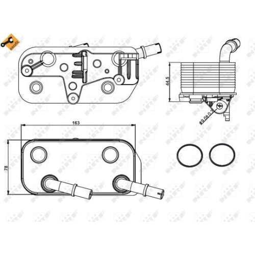 Radiator ulei motor, Termoflot Nrf 31189