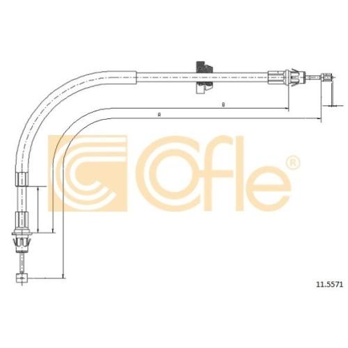 Cablu frana mana Ford Transit (Fd) Cofle 115571, parte montare : fata