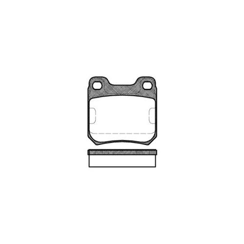 Set placute frana Remsa 023900, parte montare : Punte spate