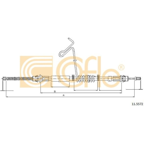 Cablu frana mana Ford Transit (Fd) Cofle 115572, parte montare : dreapta, spate