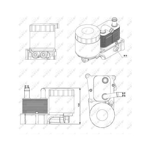 Radiator ulei motor, Termoflot Nrf 31194
