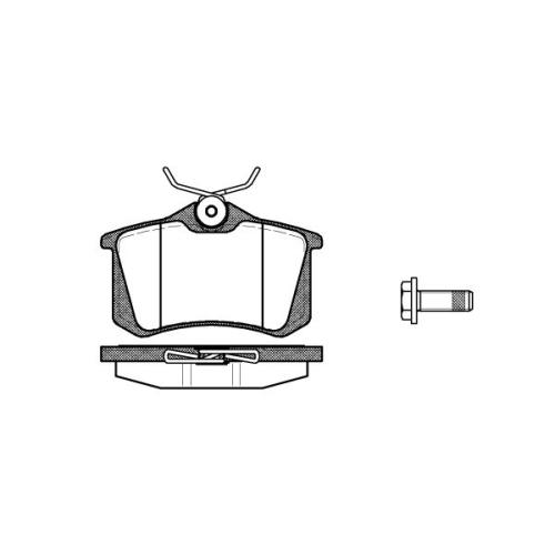 Set placute frana Remsa 026305, parte montare : Punte spate