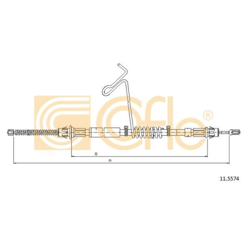 Cablu frana mana Ford Transit (Fd) Cofle 115574, parte montare : dreapta, spate