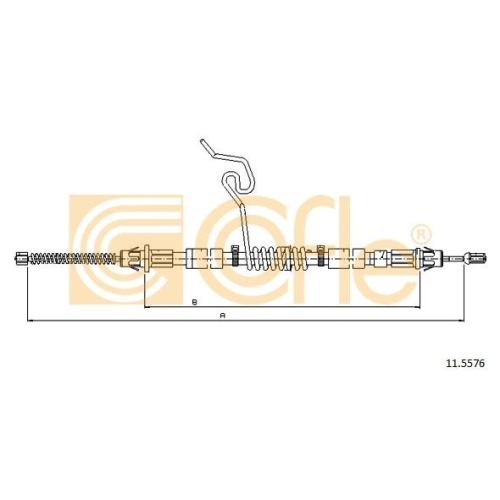 Cablu frana mana Ford Transit (Fd) Cofle 115576, parte montare : dreapta, spate