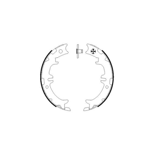 Set saboti frana mana Textar 91060500, parte montare : Punte spate