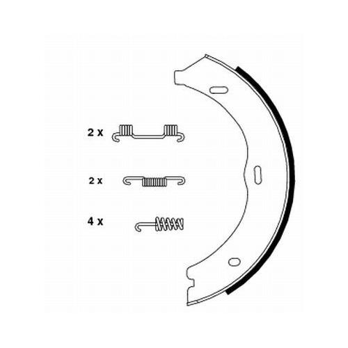 Set saboti frana mana Textar 91061900, parte montare : Punte spate