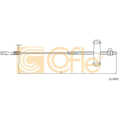 Cablu frana mana Ford Transit (Fd) Cofle 115670, parte montare : central