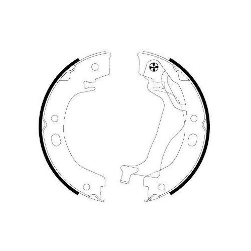 Set saboti frana mana Textar 91066500, parte montare : Punte spate
